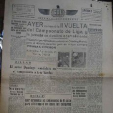 Coleccionismo deportivo: GOL DIARIO DEPORTIVO. AÑO 1 NÚM 115 LUNES 16 DICIEMBRE 1940. Lote 5557856