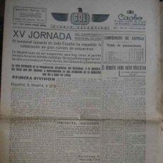 Coleccionismo deportivo: GOL DIARIO DEPORTIVO. AÑO 1 NÚM 133 LUNES 6 ENERO 1941. Lote 5558350
