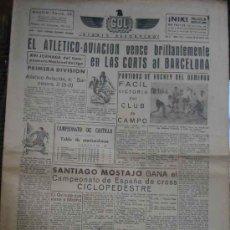 Coleccionismo deportivo: GOL DIARIO DEPORTIVO. AÑO II NÚM 145 LUNES 20 ENERO 1941. Lote 5563937