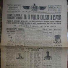 Coleccionismo deportivo: GOL DIARIO DEPORTIVO. AÑO II NÚM 264 LUNES 9 DE JUNIO 1941. Lote 5565124