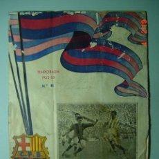 Coleccionismo deportivo: 1010 BARCELONA FUTBOL CLUB REVISTA AÑO 1952 - PARTIDO BARCELONA VALLADOLID - C&C. Lote 14126576
