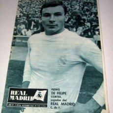 Coleccionismo deportivo: ANTIGUA REVISTA REAL MADRID - 1964 - NUMERO 174 - PEDRO DE FELIPE EN LA PORTADA . Lote 14484482