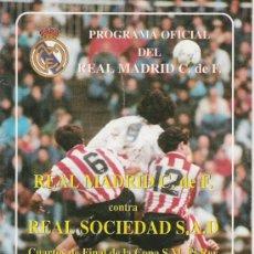Coleccionismo deportivo: PROGRAMA OFICIAL DEL REAL MADRID. TEMPORADA DEL 93.. Lote 6812997