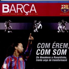 Coleccionismo deportivo: REVISTA OFICIAL DEL FUTBOL CLUB BARCELONA (EN CATALA) ++ AGOST 2006. Lote 7238356