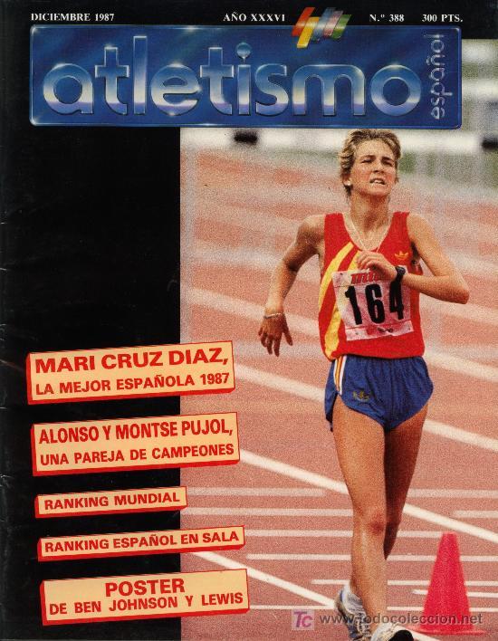 REVISTA ATLETISMO ESPAÑOL Nº 388 DICIEMBRE 1987 (Coleccionismo Deportivo - Revistas y Periódicos - otros Fútbol)