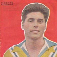 Coleccionismo deportivo: SEMANARIO DEPORTIVO DICEN, VICENTE R.C.D.ESPAÑOL. Lote 7604214