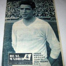 Coleccionismo deportivo: ANTIGUA REVISTA DEL REAL MADRID Nº 173 - AÑO 1964 - RAMON GROSSO EN LA PORTADA - ARICULOS DEL MADRID. Lote 13119521