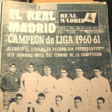 Coleccionismo deportivo: REVISTA REAL MADRID CAMPEON DE LIGA 1961. Lote 26467525