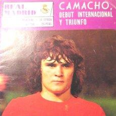 Coleccionismo deportivo: REVISTA REAL MADRID CAMACHO DEBUTA CON LA SELECCION ESPAÑA. Lote 26323059