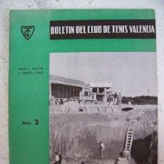 Coleccionismo deportivo: BOLETIN DEL CLUB DE TENIS VALENCIA Nº2, ABRIL, MAYO Y JUNIO 1960. Lote 21267430