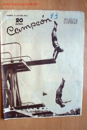 CAMPEÓN, REVISTA DE DEPORTES Nº 43. 27 AGOSTO 1933 (Coleccionismo Deportivo - Revistas y Periódicos - otros Fútbol)