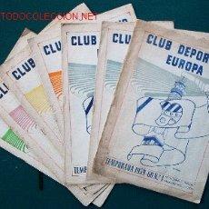 Coleccionismo deportivo: 7 REVISTAS CLUB DEPORTIVO EUROPA - TEMPORADA 1959-60. Lote 26299783