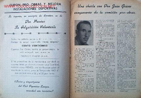 Coleccionismo deportivo: 7 Revistas CLUB DEPORTIVO EUROPA - Temporada 1959-60 - Foto 2 - 26299783