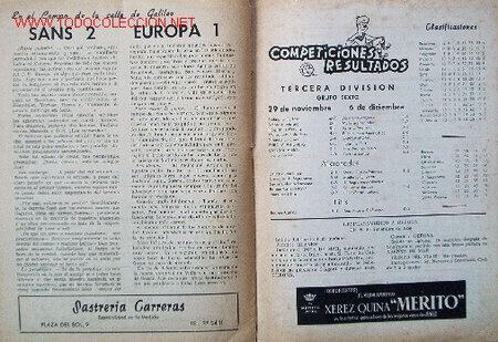 Coleccionismo deportivo: 7 Revistas CLUB DEPORTIVO EUROPA - Temporada 1959-60 - Foto 4 - 26299783