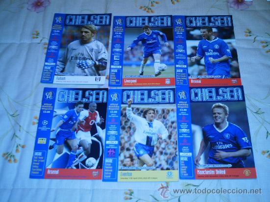 LOTE 6 PROGRAMAS DEL CHELSEA TEMPORADA 03/04 (Coleccionismo Deportivo - Revistas y Periódicos - otros Fútbol)