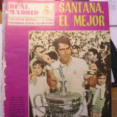 Coleccionismo deportivo: REVISTA REAL MADRID CURIOSO SANTANA GANA EL CONDE DE GODO CON LA CAMISETA REAL MADRID. Lote 26323056