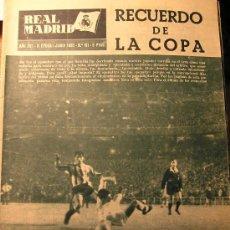 Coleccionismo deportivo: ANTIGUA REVISTA REAL MADRID - RECUERDO DE LA COPA - 1965 ATLETICO DE MADRID GANA FINAL COPA. Lote 27612774