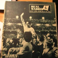 Coleccionismo deportivo: ANTIGUA REVISTA DEL REAL MADRID - RETIRADA DE GENTO - 1965. Lote 29916414