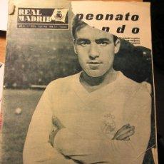 Coleccionismo deportivo: ANTIGUA REVISTA REAL MADRID - LUIS DEL SOL NUEVO FICHAJE - 1960 ATLETICO MADRID CAMPEON DE COPA. Lote 27612775