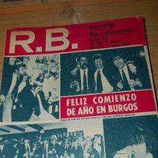 Coleccionismo deportivo: BARÇA : REVISTA BARCELONISTA ( RB ) Nº 353. 4-1-1972 : BURGOS 2-BARÇA 3. Lote 11124785