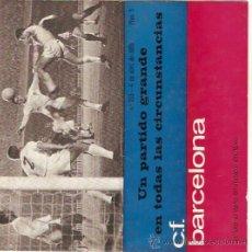 Collezionismo sportivo: PROGRAMA OFICIAL PARTIDO BARCELONA-VALENCIA C.F. 4-4-65. Lote 11837299