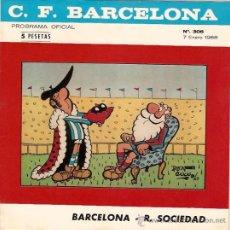 Collezionismo sportivo: PROGRAMA OFICIAL PARTIDO BARCELONA - REAL SOCIEDAD 7-1-68. Lote 11837453