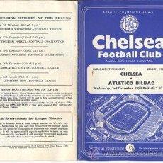 Coleccionismo deportivo: ATHLETIC BILBAO - AMISTOSO CHELSEA ATLETICO BILBAO (1959) . Lote 26395818