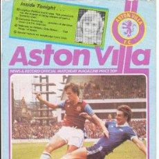 Coleccionismo deportivo: FUTBOL FOOTBALL PROGRAMA OFICIAL COPA UEFA ASTON VILLA - ATHLETIC BILBAO (1977) VIZCAYA PAIS VASCO. Lote 26824800