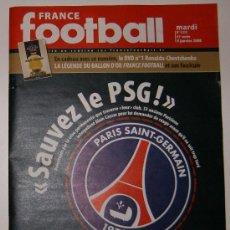 Coleccionismo deportivo: REVISTA FRANCE FOOTBALL. Nº 3222. 08/01/2008. Lote 12145524