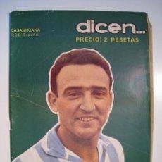 Coleccionismo deportivo: REVISTA DEPORTIVA DICEN Nº 206 (29/09/57): CASAMITJANA. Lote 13339368