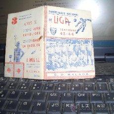 Coleccionismo deportivo: MALAGA CAMPEONATO NACIONAL DE LIGA 1943-44 -- CAJA Nº 3. Lote 13657015