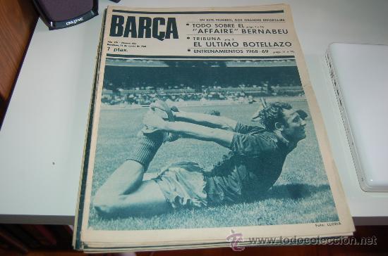 REVISTA BARÇA Nº 665. 14 DE AGOSTO DE 1968: PRESENTACIÓN TEMPORADA 68-69 (Coleccionismo Deportivo - Revistas y Periódicos - otros Fútbol)
