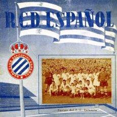 Collectionnisme sportif: PROGRAMA OFICIAL REAL CLUB DEPORTIVO ESPAÑOL F.C VALENCIA SEPTIEMBRE 1950. Lote 15931815