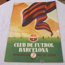 Coleccionismo deportivo: BOLETIN F.C. BARCELONA - ENERO 1955. Lote 16509465