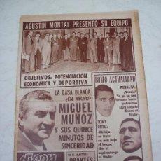 Coleccionismo deportivo: DICEN - DIARIO DEPORTIVO DE LA TARDE - 5-12-1973 - AGUSTIN MONTAL PRESENTO SU EQUIPO.. Lote 15990814