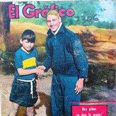 Colecionismo desportivo: EL GRAFICO # 2306 -18/12/1963 - RUBEN MAGDALENA (FUTBOL) -60 PAG - BOCA DERROTA AL INTER . Lote 22576643
