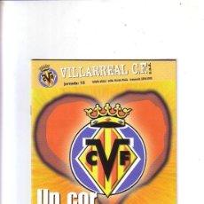 Collectionnisme sportif: PROGRAMA FÚTBOL OFICIAL TEMPORADA 04-05 VILLARREAL-BARCELONA. Lote 118576712