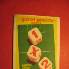 Coleccionismo deportivo: GUIA DEL QUINIELISTA 1963/64.. Lote 27034076