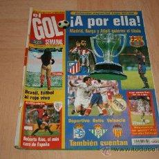 Coleccionismo deportivo: REVISTA EL GOL SEMANAL Nº 15 1997. Lote 16679997