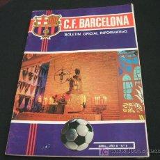 Coleccionismo deportivo: F.C. BARCELONA - BOLETIN OFICIAL INFORMATIVO - ABRIL 1.971 - AÑO II - Nº 5 - BARÇA . Lote 17075367