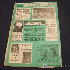 Coleccionismo deportivo: DIARIO DEPORTIVO DICEN - 28 NOVIEMBRE 1.953 - Nº 63 - CESAR Y DAUCIK ACLARAN LA SITUACION. Lote 17094555