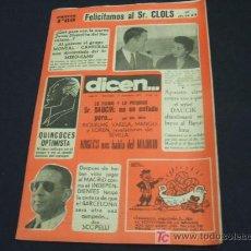 Coleccionismo deportivo: DIARIO DEPORTIVO DICEN - 12 DICIEMBRE 1.953 - Nº 65 - . Lote 17094715