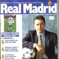 Coleccionismo deportivo: REVISTA REAL MADRID NÚMERO 66, DE 1995. Lote 22608037