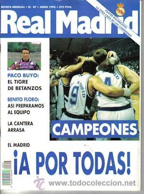 REVISTA REAL MADRID NÚMERO 47, DE 1993 (Coleccionismo Deportivo - Revistas y Periódicos - otros Fútbol)