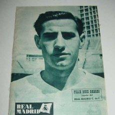 Coleccionismo deportivo: ANTIGUA REVISTA DEL REAL MADRID - FUTBOL - AGOSTO 1961 - Nº 135 - EN PORTADA FELIX RUIZ GABARI - MI. Lote 17155363