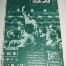 Coleccionismo deportivo: ANTIGUA REVISTA DEL REAL MADRID - FUTBOL - OCTUBRE DE 1965 - Nº 185 - GENTO EN PORTADA, EL FEIJENO. Lote 31747255