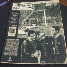 Coleccionismo deportivo: REVISTA BARÇA - 6 ABRIL 1.956 - NUMERO 16 - PORTADA VILLAVERDE, KUBALA, SEGARRA. Lote 18492176