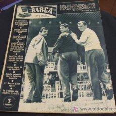 Coleccionismo deportivo: REVISTA BARÇA - 21 JUNIO 1956 - Nº 27 - PORTADA VILLAVERDE, EULOGIO MARTINEZ Y KUBALA -. Lote 24804293