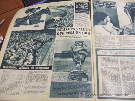 Coleccionismo deportivo: REVISTA BARÇA - 21 JUNIO 1956 - Nº 27 - PORTADA VILLAVERDE, EULOGIO MARTINEZ Y KUBALA - - Foto 2 - 24804293