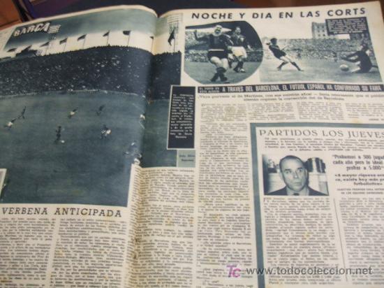 Coleccionismo deportivo: REVISTA BARÇA - 21 JUNIO 1956 - Nº 27 - PORTADA VILLAVERDE, EULOGIO MARTINEZ Y KUBALA - - Foto 3 - 24804293